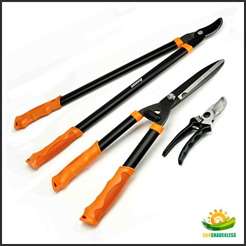 Shenso 3 piece combo garden tool set with lopper hedge for Gardening tools kit set