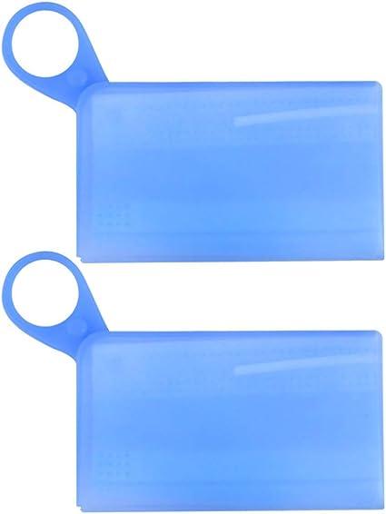 Artibetter 2 Piezas Caja de Almacenamiento de Cubierta de Boca Caja de Almacenamiento de Silicona Caja a Prueba de Polvo Boca Soporte de Mufla Contenedor (Azul): Amazon.es: Belleza