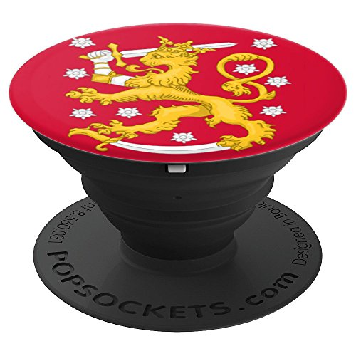 Finnish Coat Of Arms - Finnish Flag Coat of Arms - PopSockets Grip and Stand for Phones and Tablets