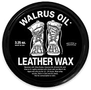 Walrus Oil - Leather Wax for Waterproofing Boots. Leather Protector and Polish. All Natural, 3.25oz Can.