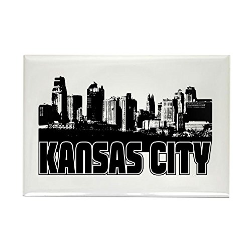 CafePress Kansas City Skyline Rectangle Magnet, 2