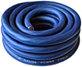 SoundBox Connected 0 Gauge Blue Amplifier Amp Power/Ground 1/0 Wire 25 Feet SuperFlex Cable 25'