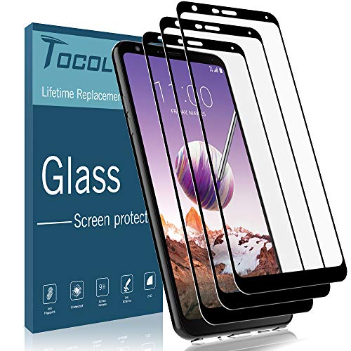 [3 Pack] TOCOL Screen Protector for LG Stylo 4, [Full Cover] 0.33mm Tempered Glass [Case Friendly] [Japan Glass with 9H Hardness] with Lifetime Replacement Warranty