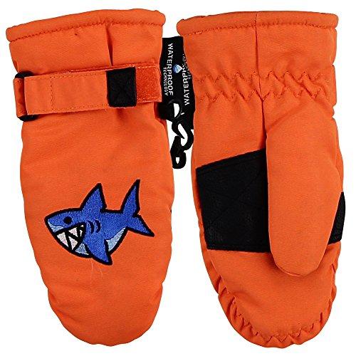 boys shark mittens - 1
