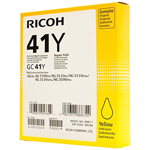 Ricoh 405764 Yellow - original - ink cartridge - for Ricoh SG 3110, SG 3120, Aficio SG 3100, SG 3110, SG 7100