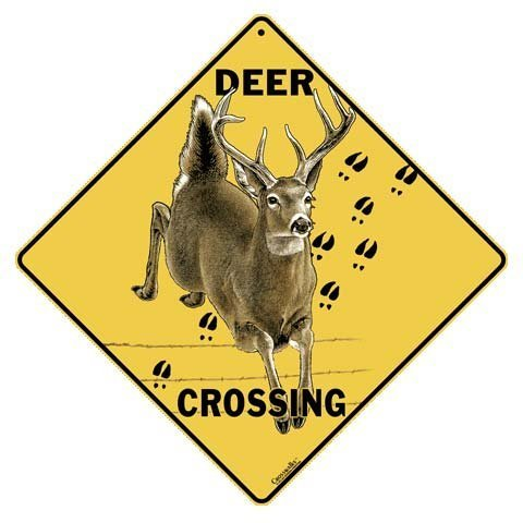 Deer Crossing All Weather Sign (Deer Crossing Sign)