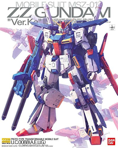 Bandai Hobby MG 1/100 Ver.Ka ZZ Gundam Model Kit Figure