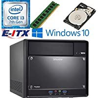 Shuttle SH110R4 Intel Core i3-7100 (Kaby Lake) XPC Cube System , 4GB DDR4, 1TB HDD, DVD RW, WiFi, Bluetooth, Window 10 Pro Installed & Configured by E-ITX