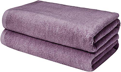 AmazonBasics Quick-Dry Bathroom Towels, Bath Sheet, Lavender