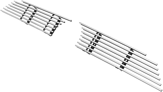 APS Compatible with 2014-2019 4Runner Regular Model Stainless Steel Black Horizontal Billet Grille Insert Combo T61278J
