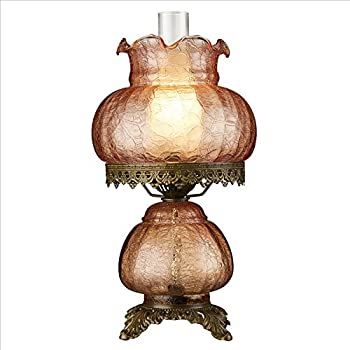 Design Toscano TF85003 Art Nouveau Rose Court Victorian Style Hurricane  Table Lamp