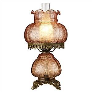 Design Toscano Art Nouveau Rose Court Victorian-Style Hurricane Table Lamp