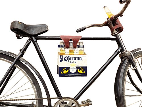 Six-Pack Bike Cinch (Bicycle Beer Carrier) Handmade by Hide & Drink :: Bourbon Brown