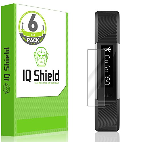 IQShield Screen Protector Compatible with Fitbit Alta HR (2017,Alta 2016,Ace 2018) [6-Pack] LiquidSkin Anti-Bubble Clear Film