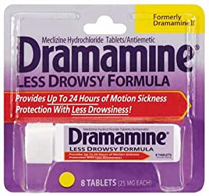 Dramamine Ingredients Less Drowsy