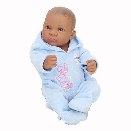 Able 10 Inch Reborn Baby Girl Boy Doll Soft Full Silicone Vinyl Body Lifelike Newborn Doll With Cloths Play House Bath Toy Gifts Dolls