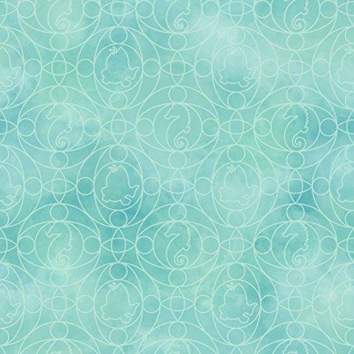 York Wallcoverings DY0349 Kids III Disney Ariel Geo Wallpaper, Greens