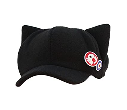 hat cat ears cap ear baseball ebay black