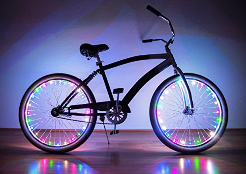 Neon Nightlife Multicolor LED Light Up Bike Wheel Lights