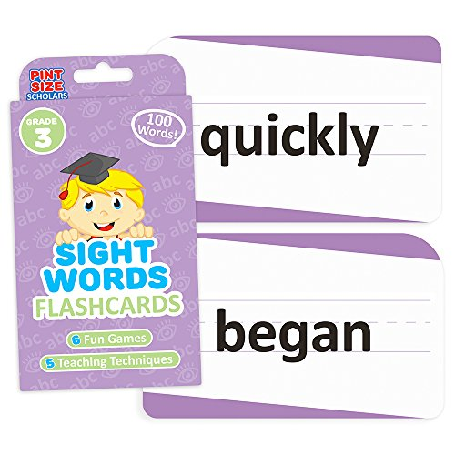 Sight Words Flashcards for Reading Readiness - Choose from 5 Grade Levels, 100 Words Each! by Pint-Size Scholars (Third Grade) (4th Grade Dolch Sight Words Flash Cards)