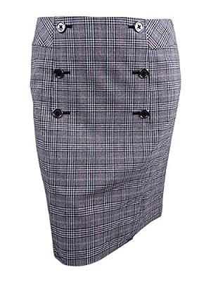 Tommy Hilfiger Women's Straight Pencil Plaid Skirt