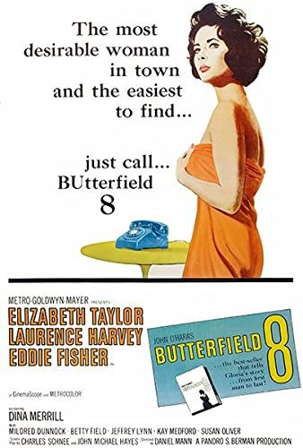 Amazon.com: Butterfield 8-1960 - Movie Poster: Posters & Prints