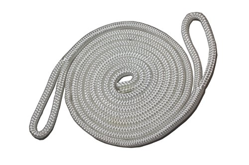 Starr Lines Double Braided Polypropylene Fender Lines (3/8-Inch X 6-Feet, 2 Each) (White) - White Dock Line