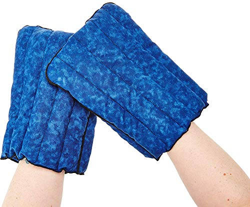 Kozy Collar Extra Large Microwavable Heating Gloves for Hand and Fingers to Relieve Arthritis, Pains and Soreness - Natural, Safe and Reusable XL