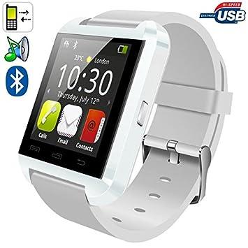 Montre connectée smartwatch Bluetooth Android écran tactile Blanc