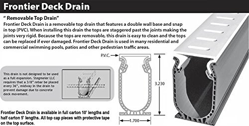 Amazon.com : Stegmeier Frontier Deck Drain - Tan (5 ft. Sections ...