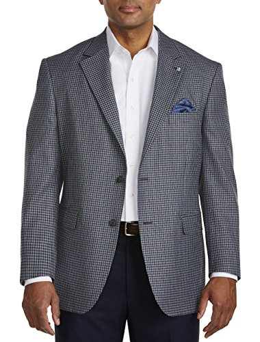 Oak Hill by DXL Big and Tall Jacket-Relaxer Mini Check Sport Coat