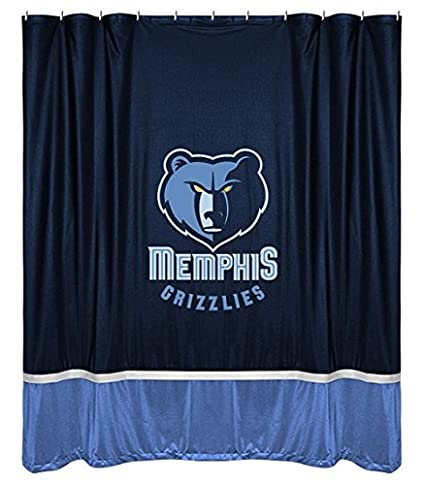 Amazoncom Memphis Grizzlies Combo Shower Curtain Valance Set