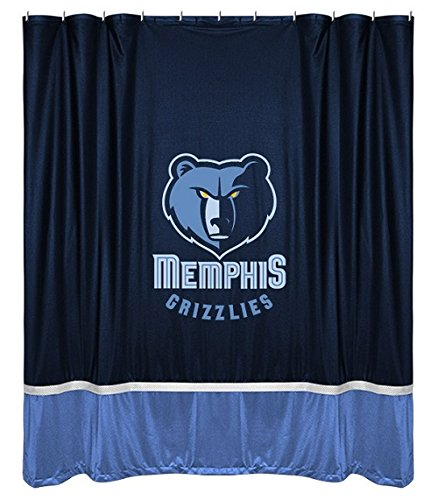 Memphis Grizzlies COMBO Shower Curtain & Valance/Drape Set (Drapes Size 82 X 63) - Decorate Your Shower and Bathroom Window & SAVE ON ()
