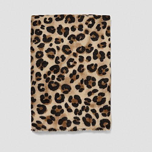 OME/&QIUMEI Herbst Winter Schal Verdickung Leopard Schal Schal