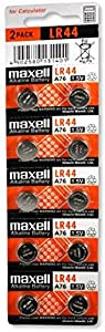 Maxell LR44 (A76) Battery 10 Pack