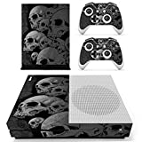 SKINOWN Xbox One S Slim Skin Grey Skull Sticker Vinly Decal Cover for Xbox One Slim(XB1 S) Console and 2 Controller Skins Review