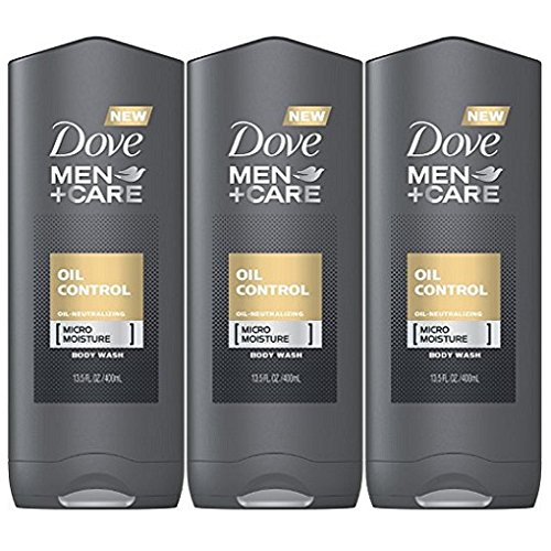 Dove Men   Care Oil Control Body Wash, 13.5 Ounce (Pack of 3)