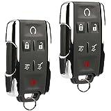 Key Fob Keyless Entry Remote fits Chevy Tahoe Suburban/GMC Yukon 2014 2015 2016 2017 (M3N-32337100 Chrome), Set of 2
