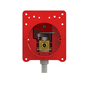 LSP OBFPS-113-RK-LL Lead Free Pull Stop Box with Ice Maker, Fire Stop and 1/2-Inch Crimp Pex, Red