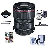 Canon TS-E 50mm f/2.8L Tilt-Shift Macro Lens U.S.A. Warranty - Bundle 77mm Filter Kit, Lens Wrap, Cleaning Kit, Capleash II, Lenspen Lens Cleaner, Software Package