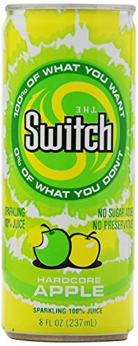 The Switch Sparkling Juice, Hardcore Apple, 8-Ounce Cans (Pack of - Bold Hardcore