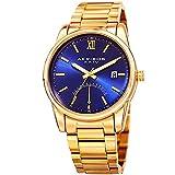 Akribos XXIV Men's Quartz Stainless Steel Casual Watch, Color Gold-Toned (Model: AK962YGBU)
