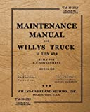 TM-10-13-15 Maintenance Manual for Willys Truck 1/4 Ton 4x4: Change No. 1, October 1, 1942