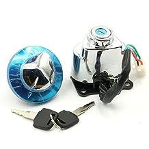 Ignition Switch Gas Cap Helmet Steering Lock Keys For Honda Shadow Aero 750 VT750CE 2014 Shadow Aero 750 VT750C 2004 - 2012 Shadow ACE 750 VT750CD Deluxe 1998 - 2003 Shadow ACE 750 VT750C 1997 - 2003