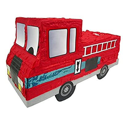 "Aztec Imports Fire Truck Pinata, Party Game and Centerpiece Decoration, 19"" L"