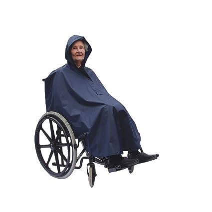NRS Healthcare - Poncho con capucha para silla de ruedas (impermeable y ligero, talla