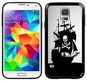 Pirate Flag Ship Handmade Samsung Galaxy S5 Black Case