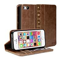 iPhone 6 Case, GMYLE [Book Case] iPhone 6 / 6s (4.7 inch) case Wallet Book Case Vintage for iPhone 6 (4.7 inch) - Brown Classic [Crazy Horse Pattern] [PU Leather] Book style Wallet Case Cover