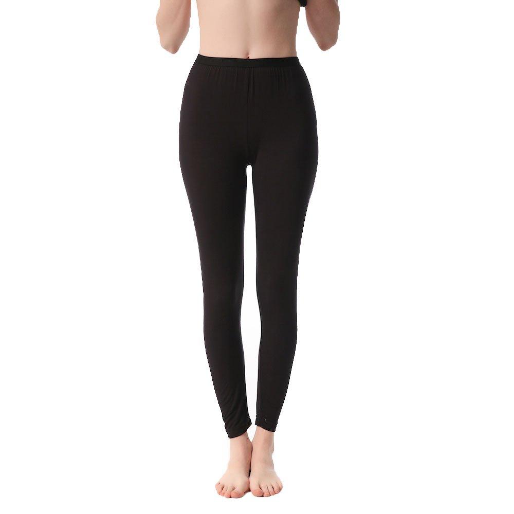 JASMINE SILK Ladies' Modal Thermal Long Johns Black