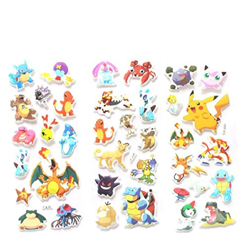 3pcs Cartoon Anime Pokemon Stickers Notebook Label For Kids Home Decor Diary Xiangxin